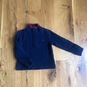 Little boys size 4 Polo half zip pull over top